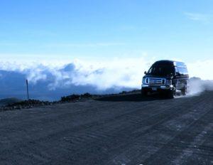 ハワイ島 マウナケア山頂に続く道