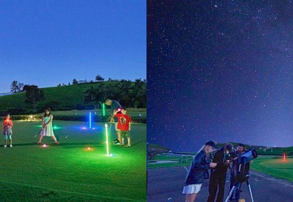 大人も子供も楽しい星空観測ツアー@マカニゴルフクラブ
